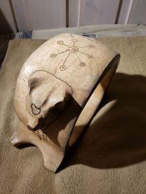 Healer Bear Drum - top symbols