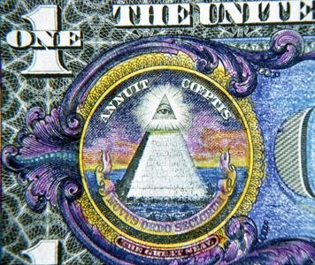 Third eye on the dollar note