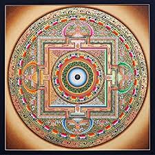 ancient OM mandala