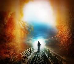 path crossing bridge towards light